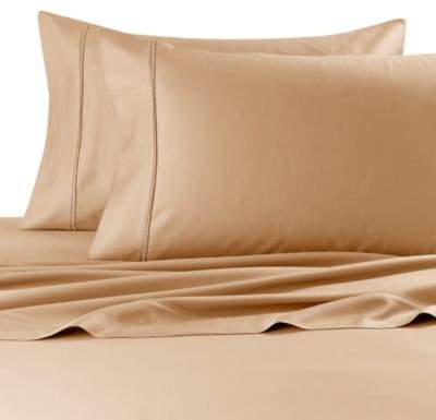 Robin Wilson Home 300-Thread-Count Twin Deep Pocket Sheet Set in Taupe