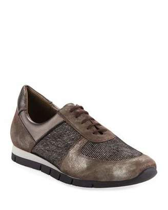 Sesto Meucci Candy Metallic Trainer Sneakers, Dark Taupe