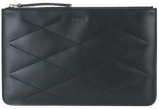 Lanvin stitched clutch bag