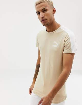0fc59e5593ee3b Puma Archive T7 Muscle Fit T-Shirt In Beige 57501543