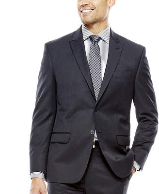 COLLECTION Collection by Michael Strahan Black Herringbone Suit Jacket - Classic Fit