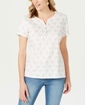 Karen Scott Henley T-Shirt, Created for Macy's