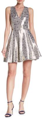 Alice + Olivia Varita Side Cutout Party Dress