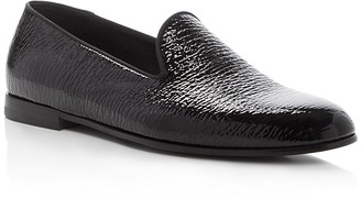 Giorgio Armani Patent Textured Smoking Slippers $795 thestylecure.com