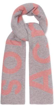 Acne Studios Toronto Large Bi Colour Wool Scarf - Womens - Grey