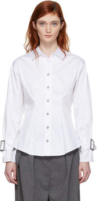 Opening Ceremony White Sateen Belt Cuff Shirt