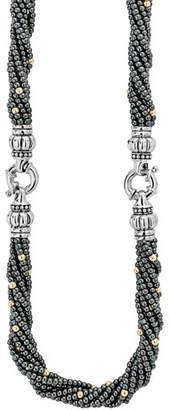 Lagos Caviar Icon Hematite Bracelet & Necklace