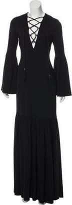 Rachel Zoe Lace-Up Maxi Dress
