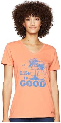 Life is Good Vintage Palms Crusher Vee T-Shirt Women's T Shirt