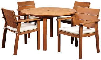 International Home Miami Nelson Eucalyptus 5-Pc Patio Dining Set