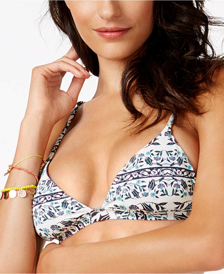 Roxy Printed Reversible Bralette Bikini Top Women's Swimsuit
