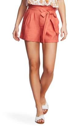 1 STATE 1.STATE Tie Waist Linen Shorts