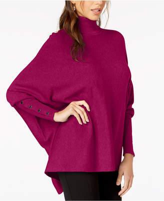 Alfani Petite Turtleneck Poncho Sweater