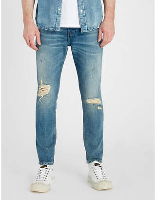 The Kooples Distressed slim-fit skinny jeans
