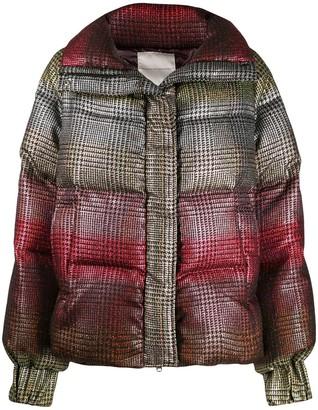 Marco De Vincenzo tartan puffer jacket