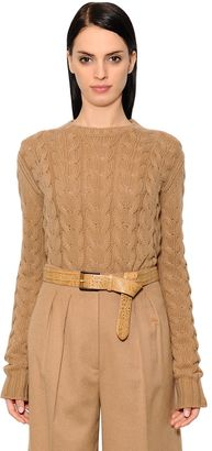 Max Mara Wool & Cashmere Cable Knit Sweater