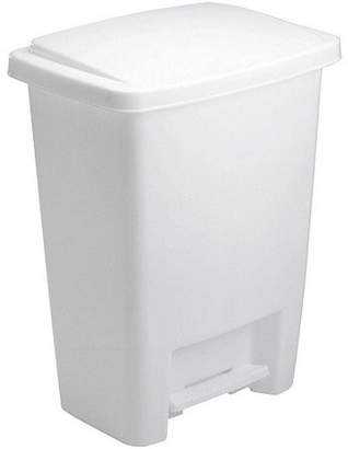 Rubbermaid Step-on Trash Can, 8.3 Gal, White