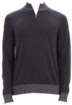 Theory Rothley Merino Wool Zip Castello Sweater