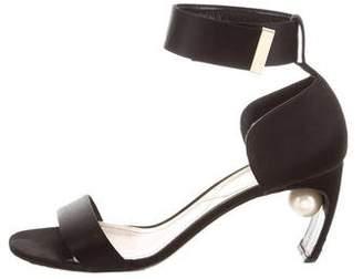 Nicholas Kirkwood Ankle Strap Satin Sandals
