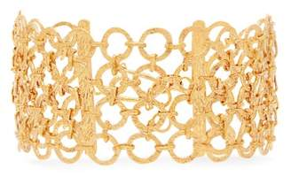 Pippa Small Turquoise Mountain - Zeeb 18kt Gold Plated Chainmail Bracelet - Womens - Gold