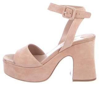 Miu Miu Suede Ankle Strap Sandals