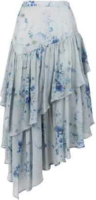 LoveShackFancy Rowan Asymmetric Floral Skirt