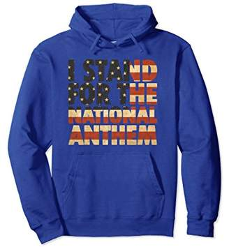 Funny I Stand American Flag Patriotic Gift Hoodie G001977