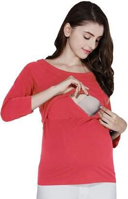Sweet Mommy Maternity and Nursing Three-Quarter Sleeve Tee Shirt KHXXL