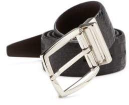 Saks Fifth Avenue COLLECTION Croc-Embossed Leather Belt