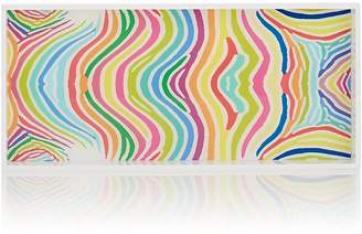 Barneys New York HAAS BROTHERS XO Zebra-Striped Acrylic Rectangular Tray