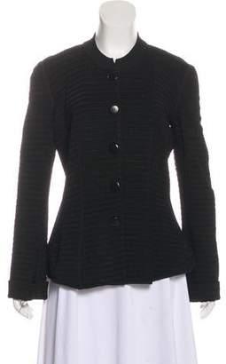 Armani Collezioni Textured Button-Up Jacket