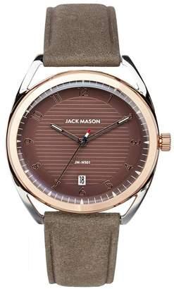 JACK MASON Women's Deck Leather Strap Watch, 38mm