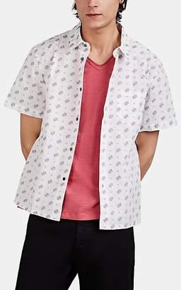 John Varvatos Men's Trent Fil Coupé Cotton Shirt - White
