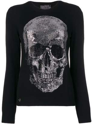 Philipp Plein studded skull sweater