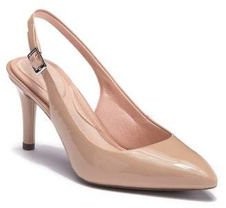 Rockport Total Motion Leather Pointed Toe Sling Pump - Wide Width Available