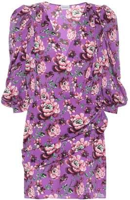 Magda Butrym Faro floral silk minidress