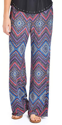 Asstd National Brand NY Collection Elastic Waist Printed Pant