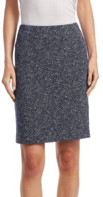 Akris Punto Jersey Jacquard Mini Skirt