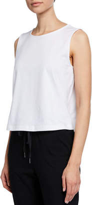 Eileen Fisher Round-Neck Stretch-Cotton Jersey Shell