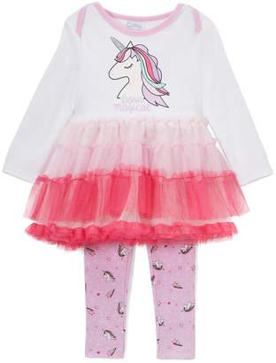 Quiltex Unicorn Tutu Legging Set