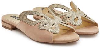 Steffen Schraut Butterfly Road Suede Sandals with Glitter