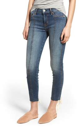 Hudson Jeans Nico Lace-Up Crop Skinny Jeans
