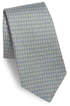 Print Circle Line Silk Boxed Tie