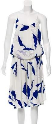 Diane von Furstenberg Jhumpa Silk Cropped Jumpsuit