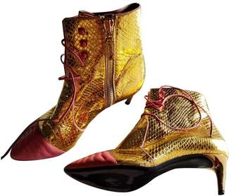 Bally Gold Leather Ankle boots