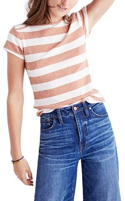 Women's Madewell Stripe Musical Tee $45 thestylecure.com