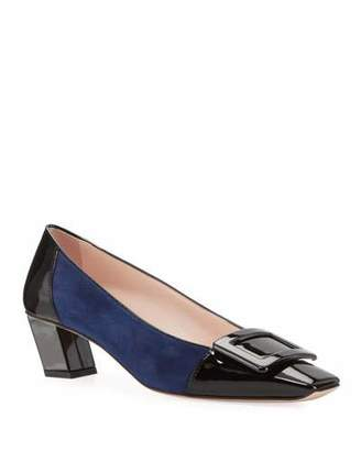 Roger Vivier Belle Pilgrim Buckle Pumps