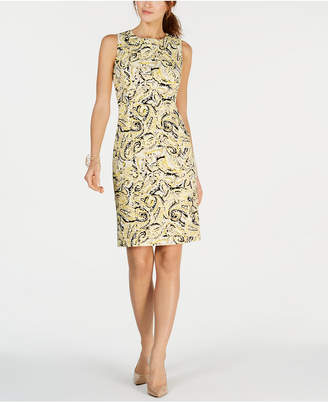 1c2040b3041 Kasper Sleeveless Paisley Print Sheath Dress