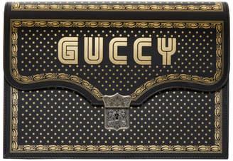 Gucci Black Sega Magnetismo Book Pouch