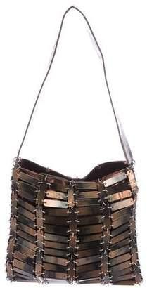 Bottega Veneta Embellished Metallic Leather Shoulder Bag